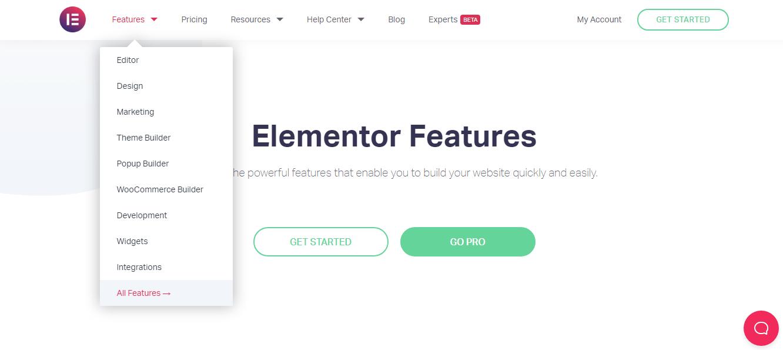 Elementor Features