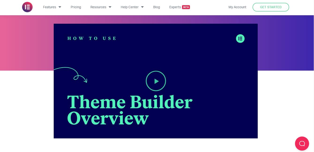 Elementor Theme Builder Overview