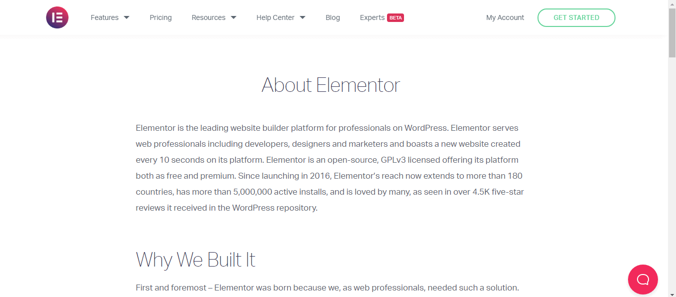About Elementor