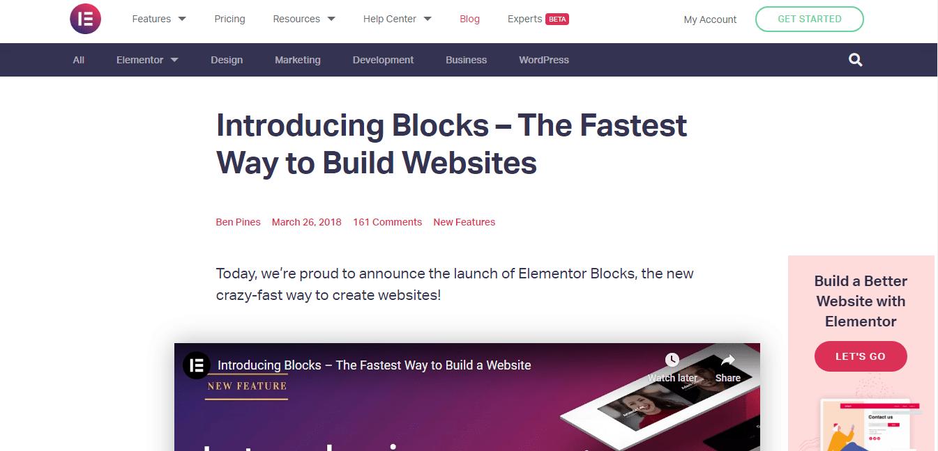 Why Elementor Blocks