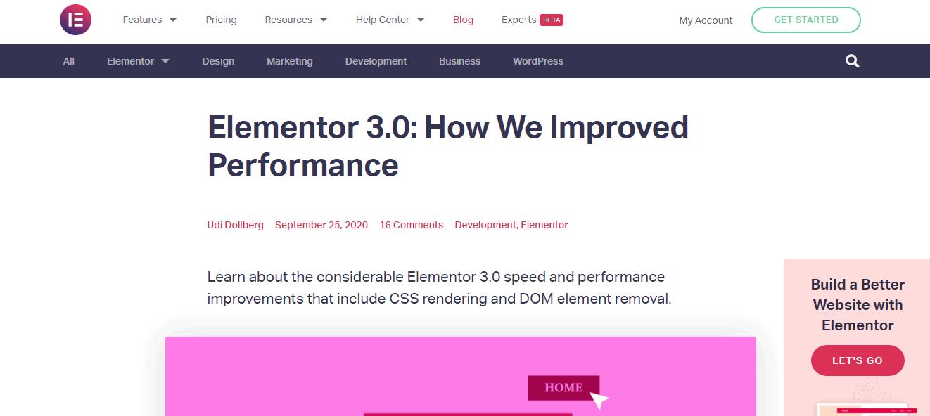 Elementor-Performance