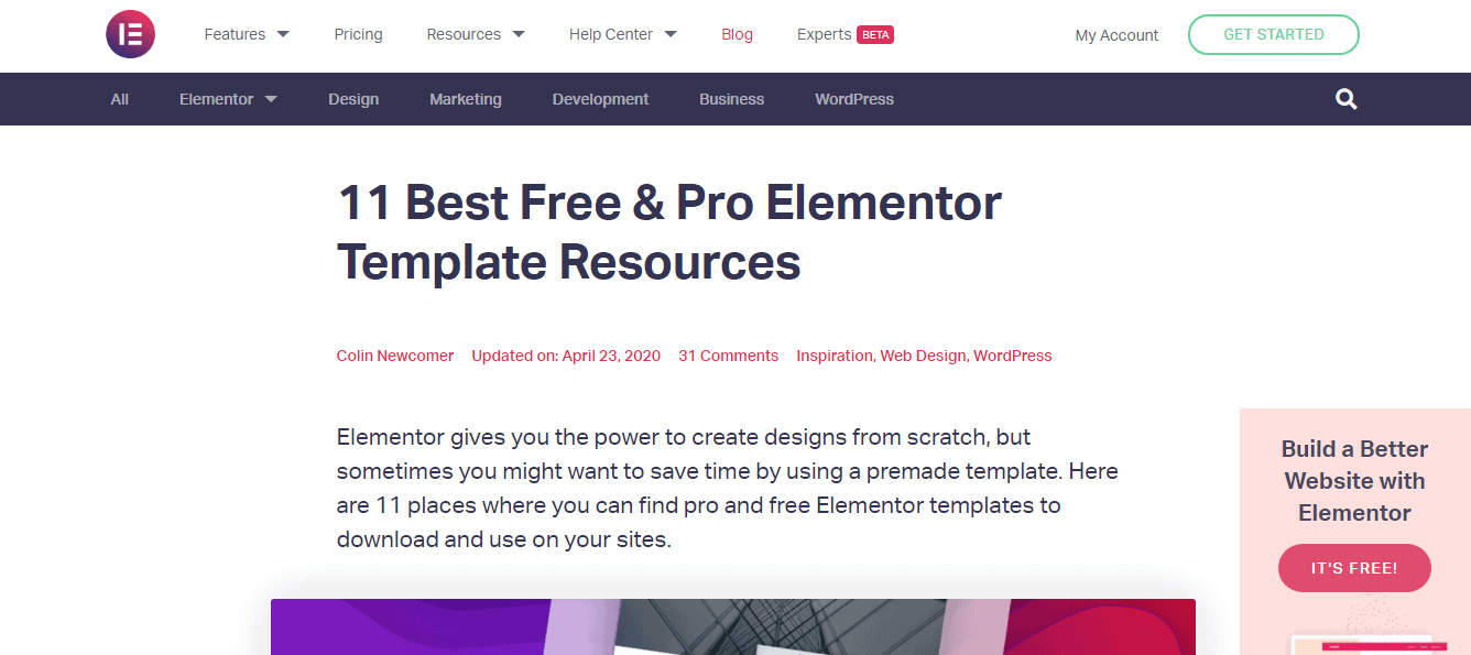 Elementor Pro Review-Templates