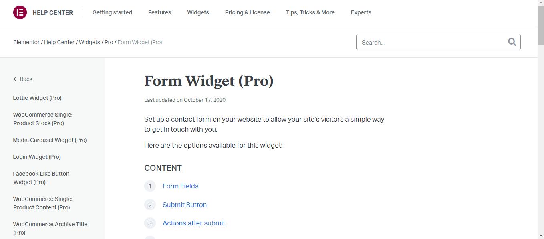 Elementor Pro-Form Building
