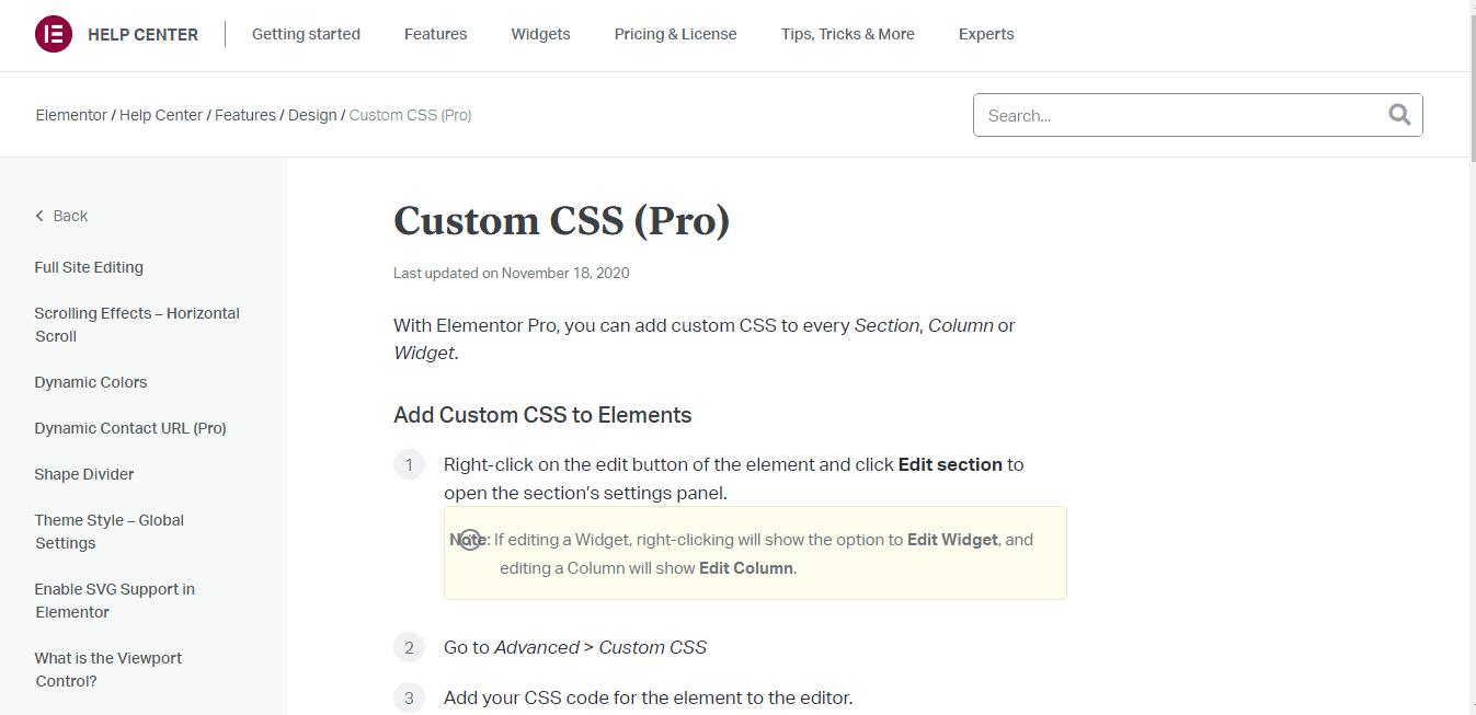 Custom CSS (Pro)