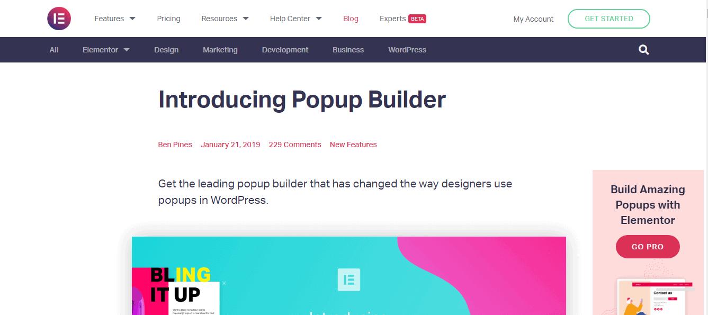 Elementor-Popup Builder