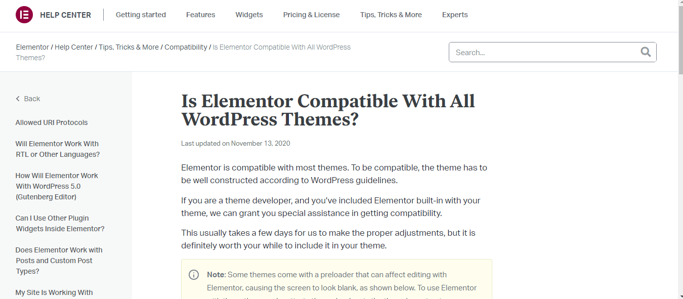 Elementor-WordPress Compatibility