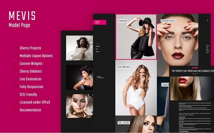 Best Pink WordPress Themes - Mevis