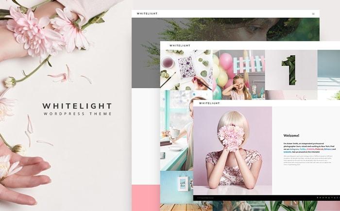 Best Pink WordPress Themes- white light