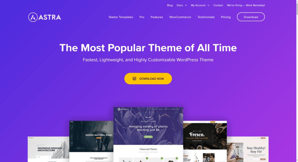 Astra Theme- GeneratePress premium alternatives