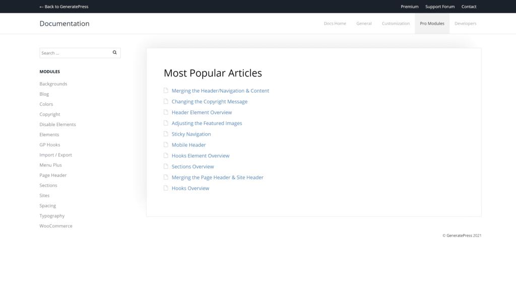 GeneratePress Modules- GeneratePress and Astra Comparison