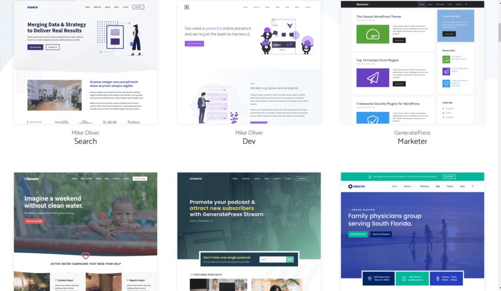 Generatepress site library- GeneratePress review