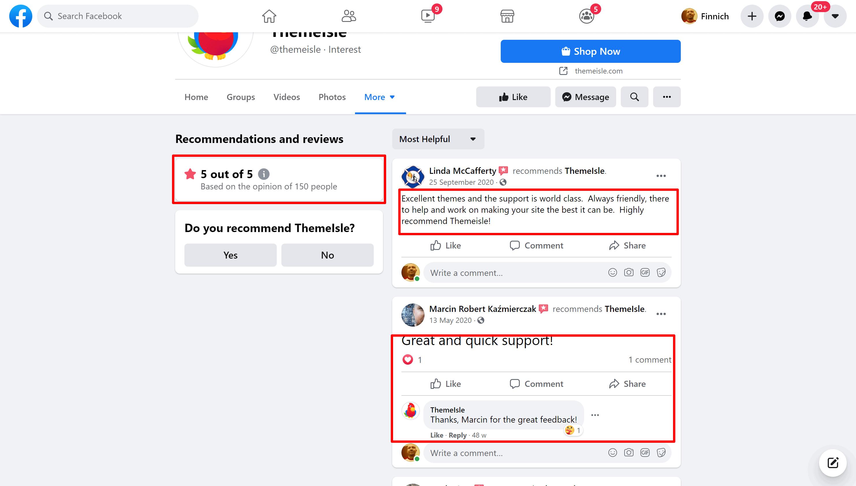 Themeisle-facebook-customer-reviews