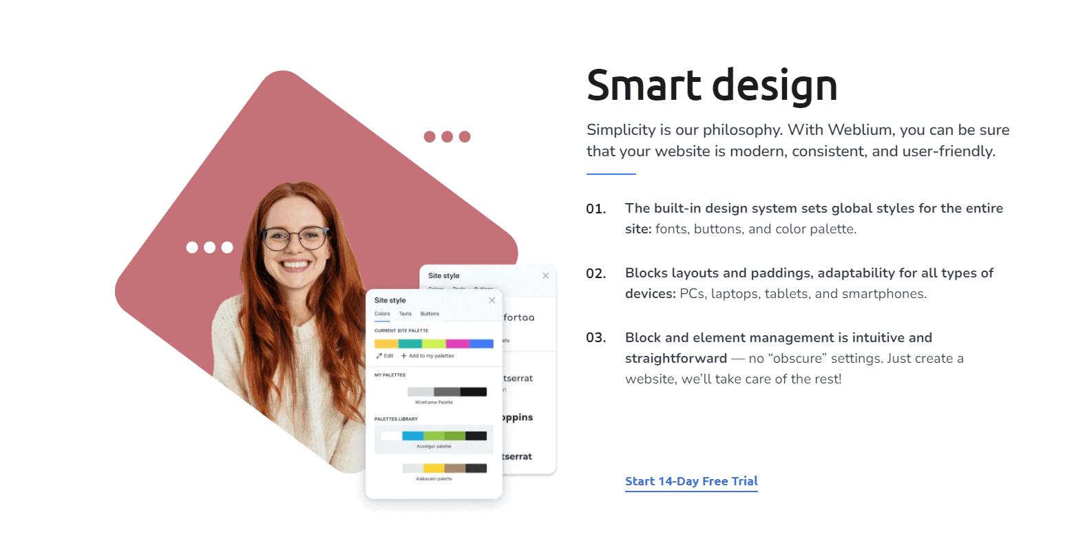 Weblium Smart Design