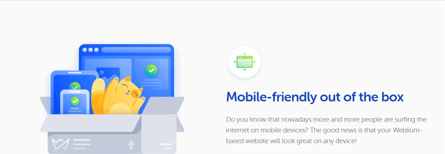 Weblium mobile site builder